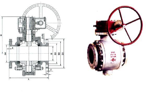 固定球阀(三段式)图片